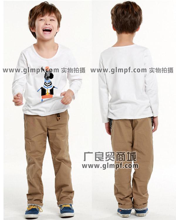 广东儿童纯棉长袖T恤衫批发