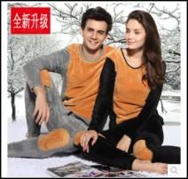 韩版时尚加绒加厚保暖内衣厂价批发
