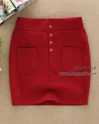 新款韩版时尚呢子加厚包裙批发