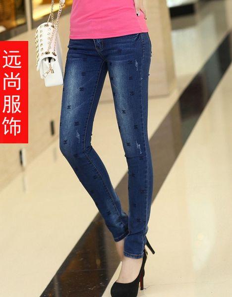贵州清镇市2014秋季新款韩版修身弹力女裤批发