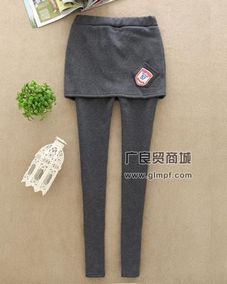 时尚欧美站女装加绒打底裤保暖裤批发
