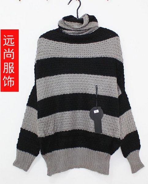 2014虎门新款老虎图案的修身蕾丝空调毛衣批发