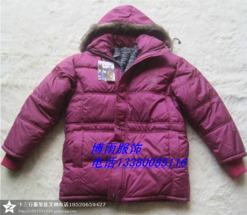 广州十三行库存低价女装棉衣外套中老年妈妈装批发