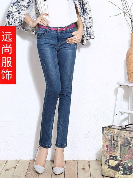 韩版欧美高档修身显瘦小脚裤大码弹力铅笔裤批发