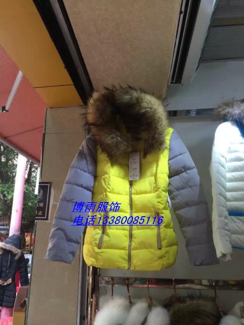 东莞2014爆款女式袄子库存棉服外套批发