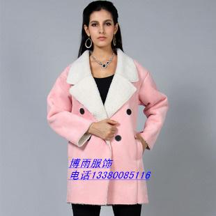 广州沙河清仓女士皮绒外套批发