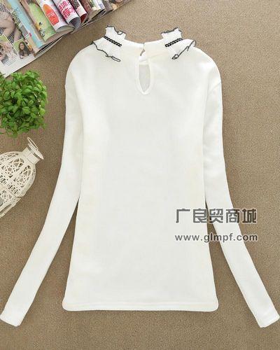 全棉女装学生装T恤衫长袖韩版印花T恤批发