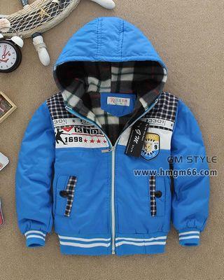 冬款韩版加厚儿童棉衣外套批发