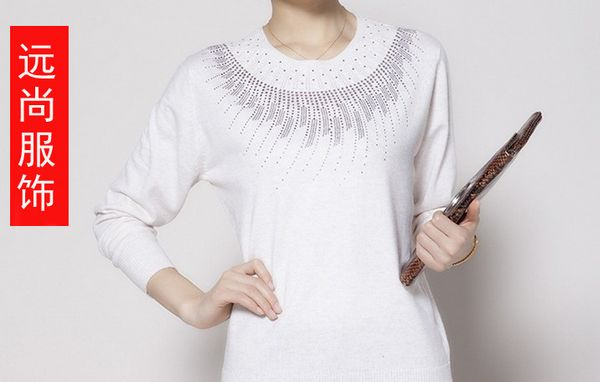 2014时尚韩版厚款地摊货源长袖套头女毛衣批发