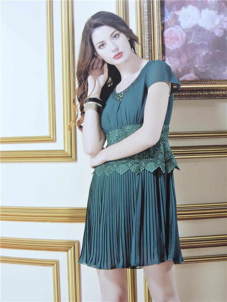 夏装新款凯诗琦女装连衣裙时尚修身品牌女装折扣批发