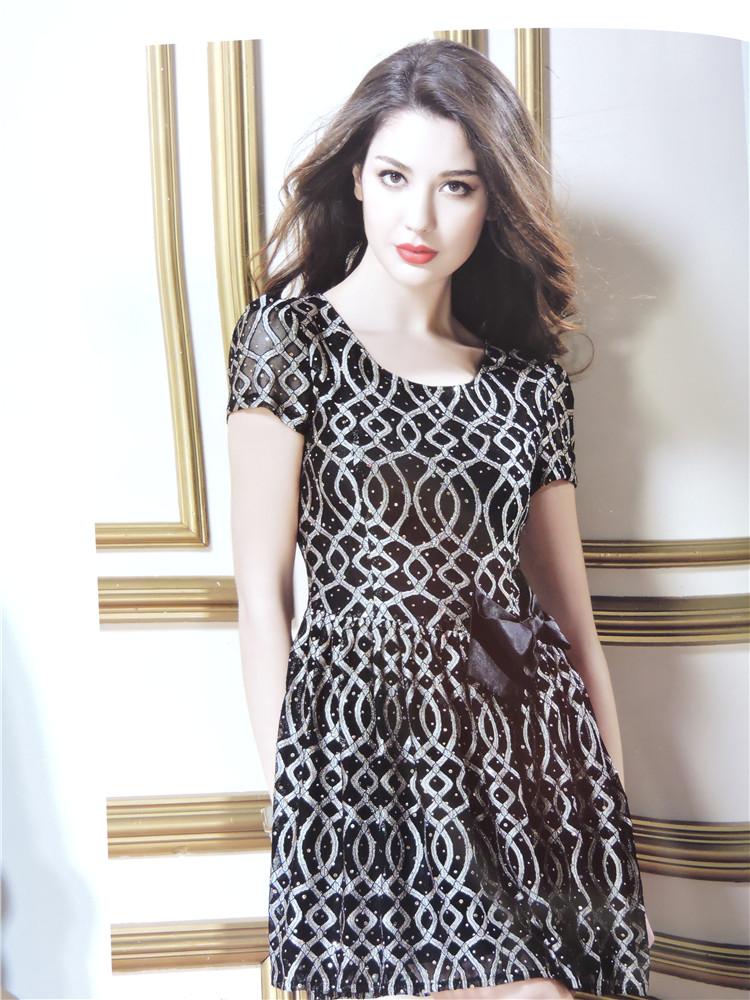 新款夏装凯诗琦品牌女装连衣裙折扣批发