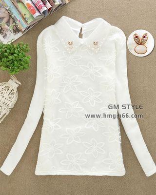 女装韩版冬装新款加厚长袖上衣打底衫批发