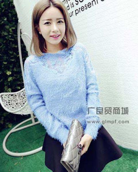 时尚女式韩版保暖加厚针织毛衫毛衣批发