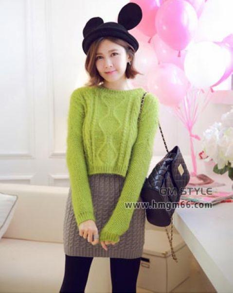 新款冬季韩版印花套头毛衣批发