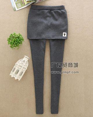 秋冬季韩国时尚裙摆弹力裤批发