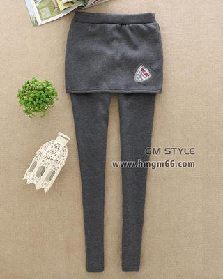 加厚假两件打底裤裙裤批发