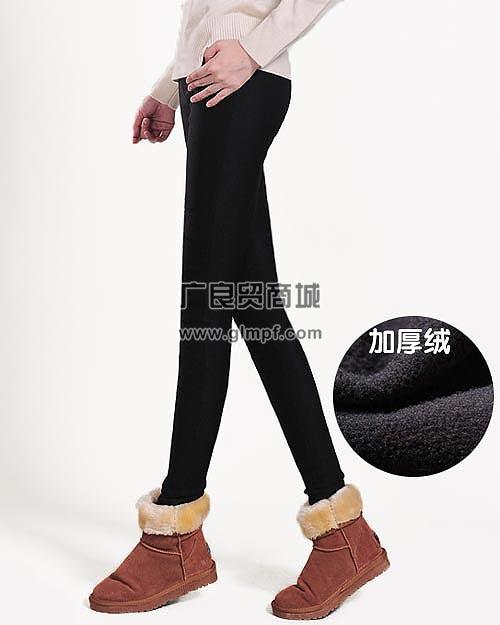 女式时尚修身瘦腿新款加厚长裤保暖裤批发