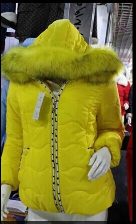 惠州冬季新款女装防寒棉衣批发