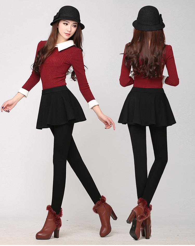 时尚韩范假两件打底裤厂家一手货源特价批发
