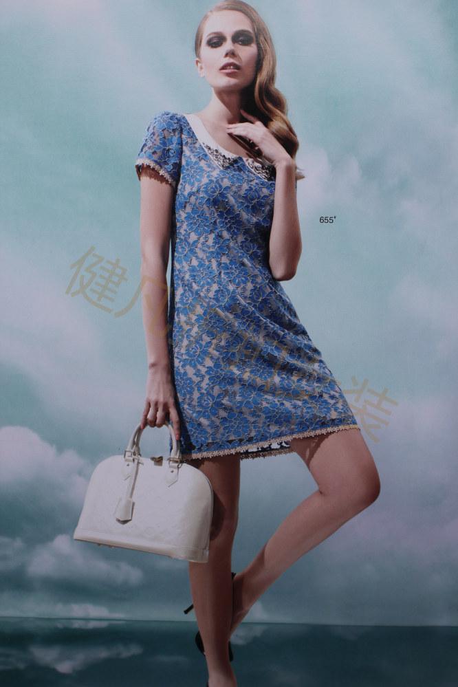 成熟品牌正品女装加大码连衣裙折扣货源批发