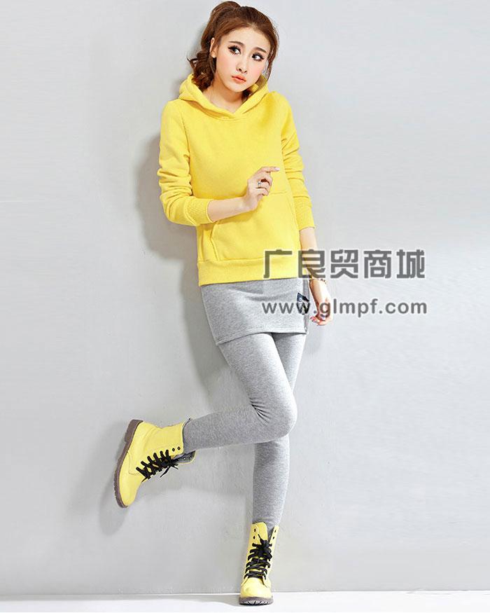 韩版女款拉绒卫衣批发