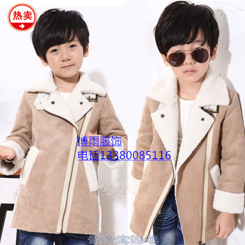 广州十三行童装冬季皮绒外套最便宜批发