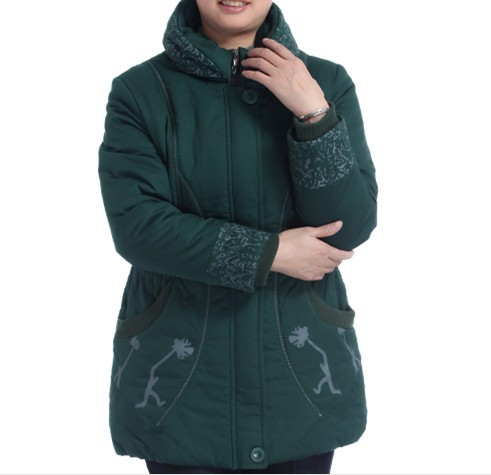 中山库存时尚清仓中老年棉衣批发