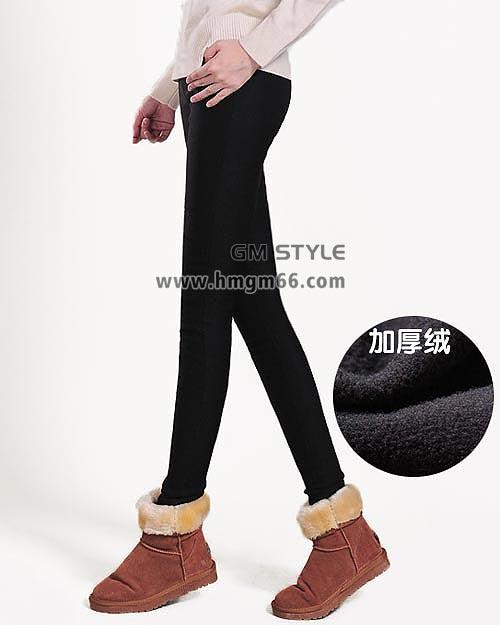 时尚欧美站韩版冬装女式保暖裤批发