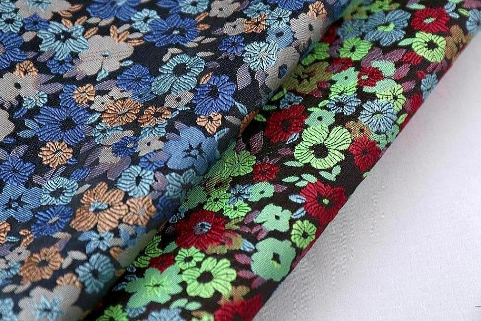 广州2015布衣纺最新款梭织提花面料批发