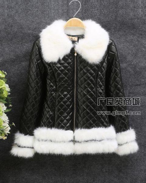 新款长款潮流迷彩毛领女装冬季流行羽绒服批发