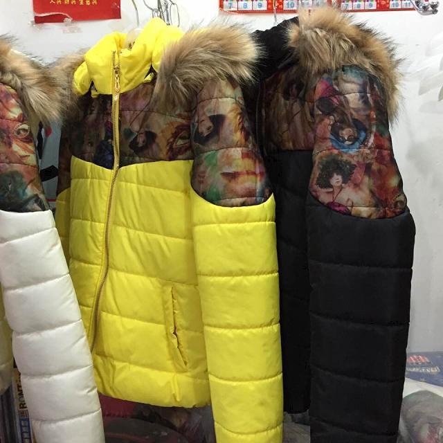 汕尾时尚女冬装韩版长款棉衣杂款牛仔裤低价批发