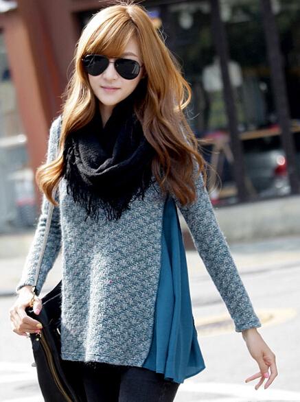 韩范气质保暖完美彰显女人味的加厚补暖打底衫厂家直销