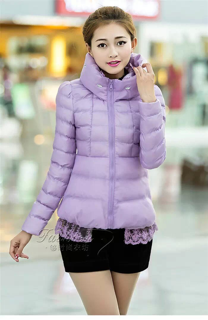 广州沙河低价清仓时尚女式棉服批发
