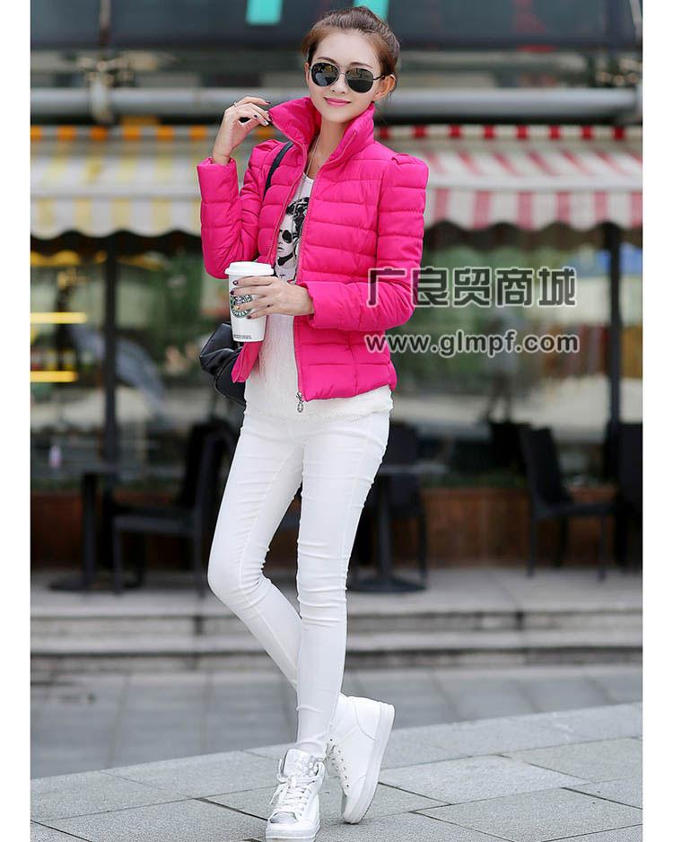 2014冬季新款韩版休闲加厚修身中长款时尚羽绒服批发