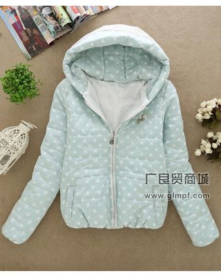 广州长沙新款冬季女装棉衣外套批发