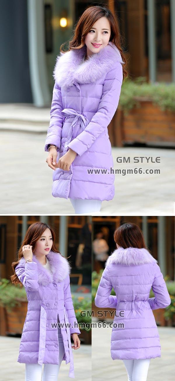 冬装长款时尚棉服批发