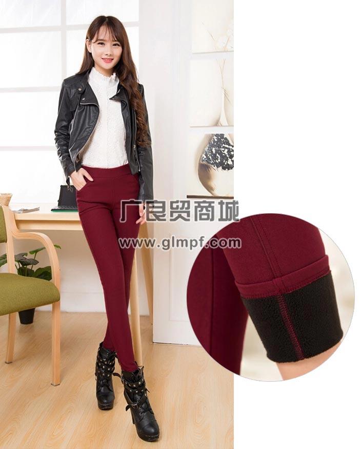 便宜时尚韩版带兜裤彩色铅笔裤批发