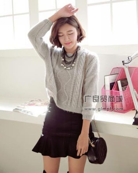 女装保暖针织毛衫时尚女式韩版加厚毛衣批发