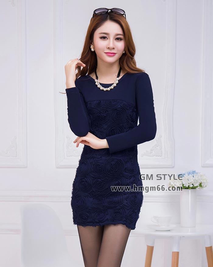厂家直销2014冬季新款女装韩版修身不倒绒加厚中长款打底裙
