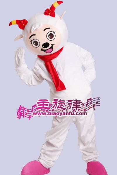 天津主旋律最全年会卡通喜羊羊美羊羊人偶服装租赁