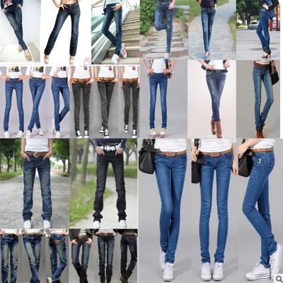 韩版修身显瘦便宜牛仔裤货源批发