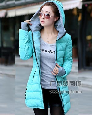 圣诞节元旦促销的韩版时尚羽绒服批发