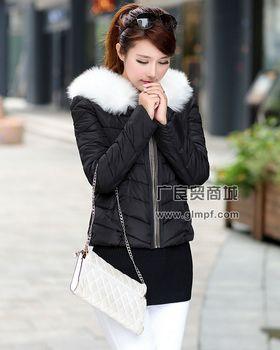 时尚冬季女款羽绒服批发