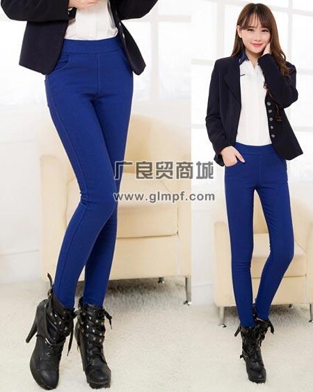韩版女装铅笔长裤时尚小脚紧身裤批发