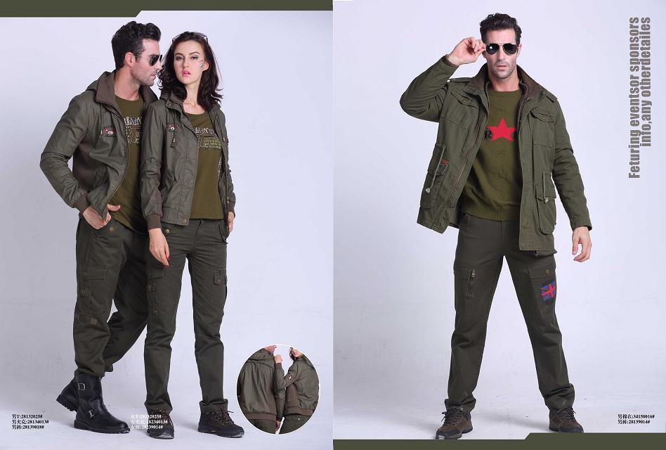 来自军绿色系的阳光问候绿野休闲服装系列诚邀加盟