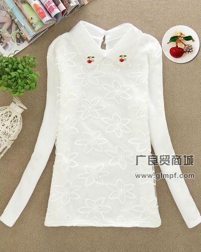 加厚女装韩版时尚圆领显瘦长袖上衣打底衫批发