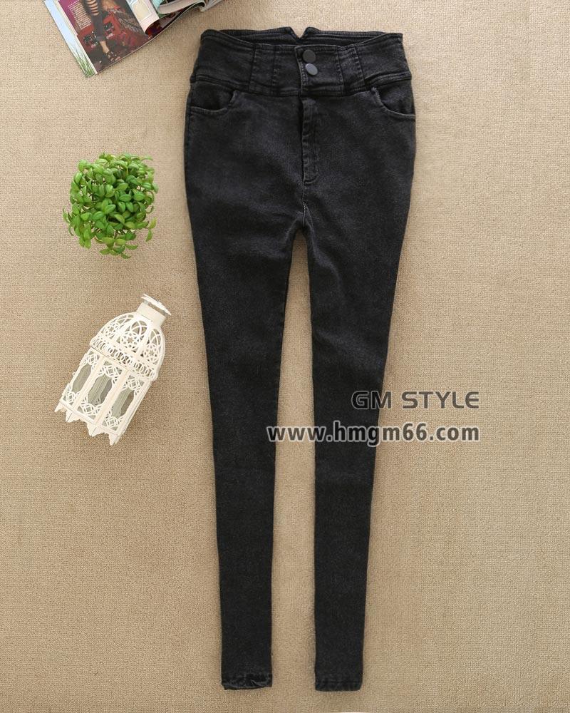 厂家直销批发高腰牛仔长裤韩版牛仔长裤