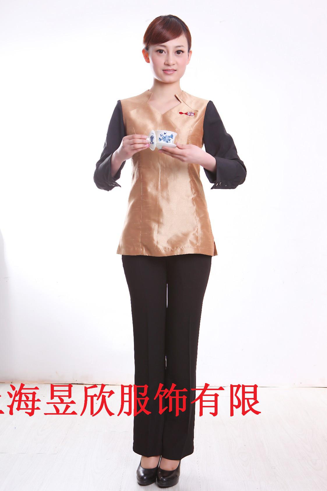 上海定做酒店工作服酒店服务员制服订做