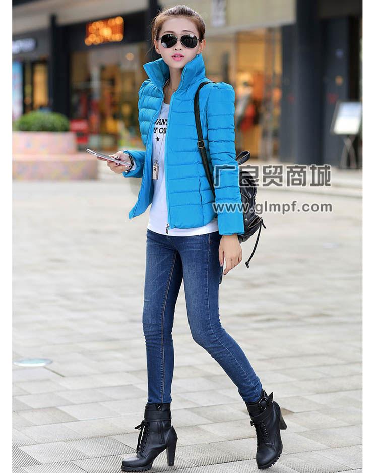 女款加厚女装外套韩国东大门韩版女装百搭修身女短款羽绒服批发