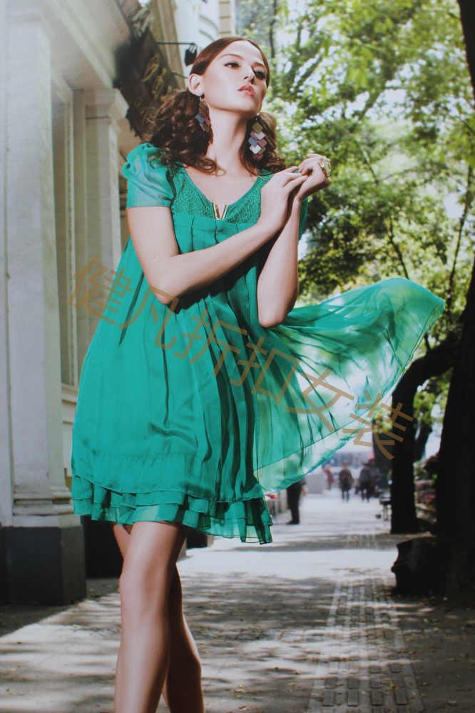 宽松版型真丝连衣裙打折价0.5折扣批发